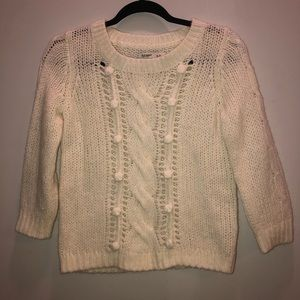 OLD NAVY KNIT SWEATER 3/4 SLEEVE